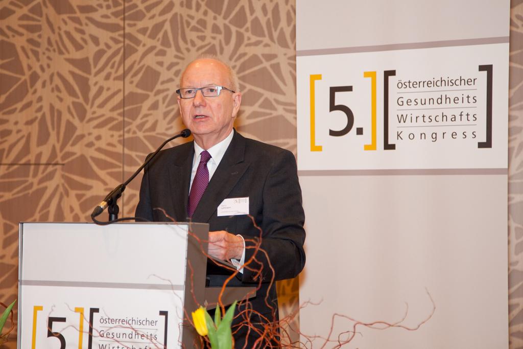 Heinz Lohmann beim 5. Österreichischen Gesundheitswirtschaftskongress in Wien